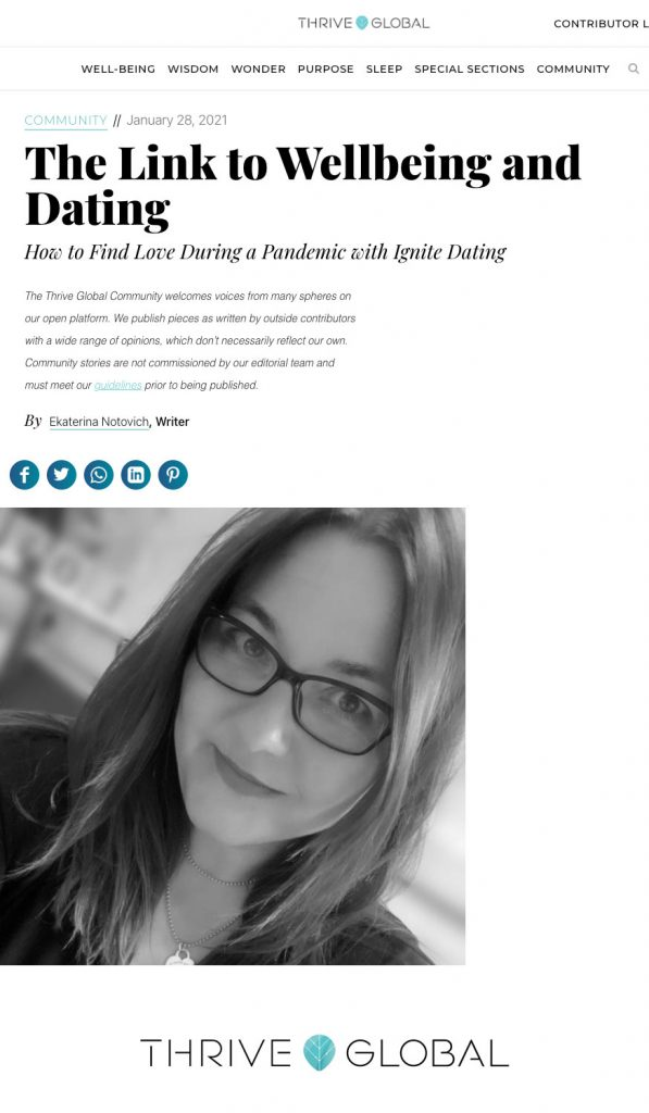 The Link to Wellbeing and Dating