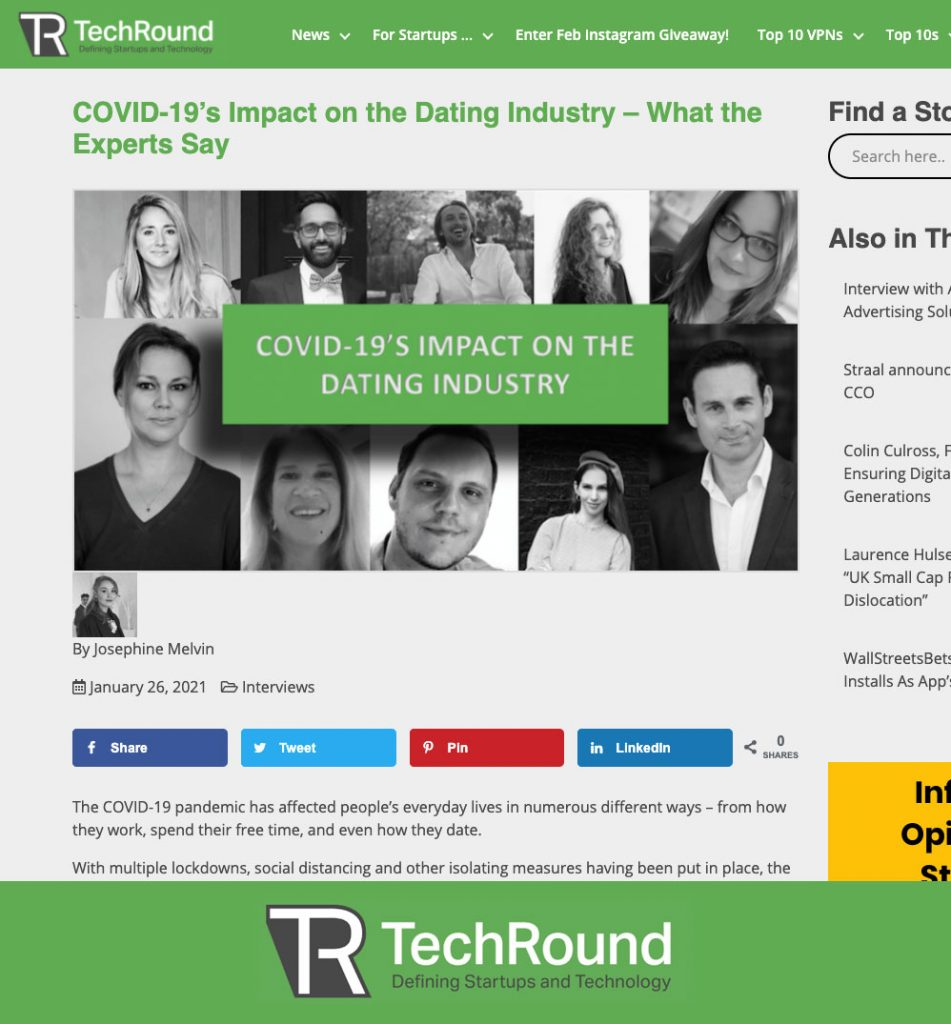 How Covid has impacted the dating industry